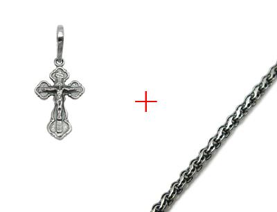 Фото Крест и цепь из серебра в подарок
