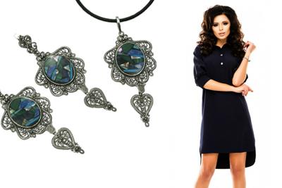 Фото Мозаика и серебро под черное платье
