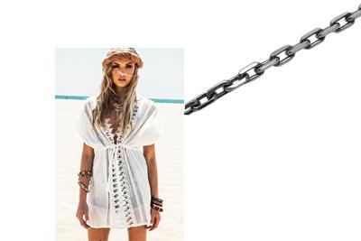 Фото Серебряная цепь для пляжа