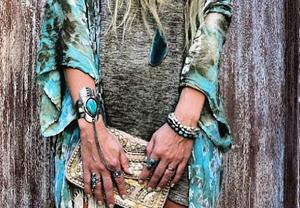Фото Слейв браслет в стиле бохо шик