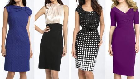 Фото варианты платьев под офисный дресс код