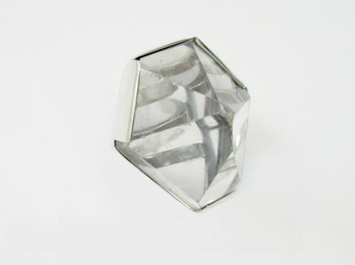 Фото Горный хрусталь в серебре