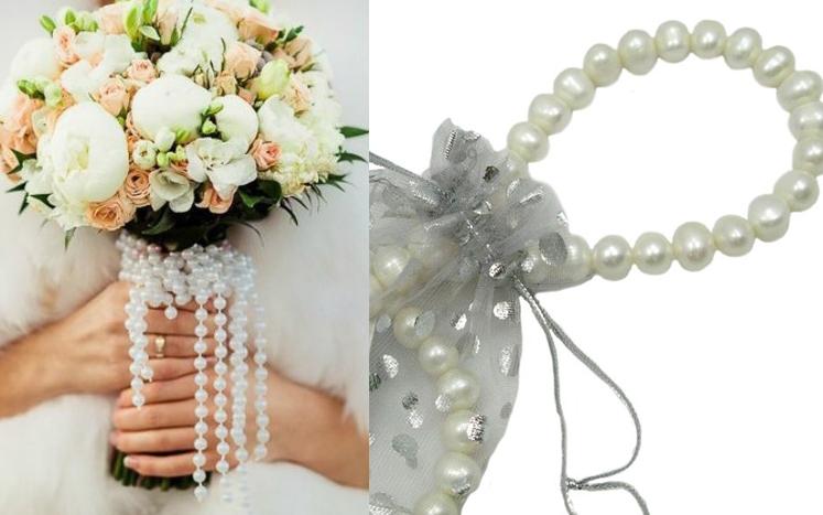 Фото Свадебное ожерелье из жемчуга